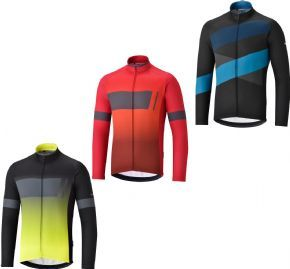 Shimano Thermal Team Jersey - Race-inspired slim fit thermal jersey for aggressive riding in cool conditions